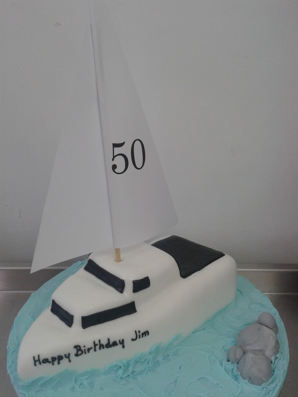 Sailing Yacht 50th Birthday Cake
