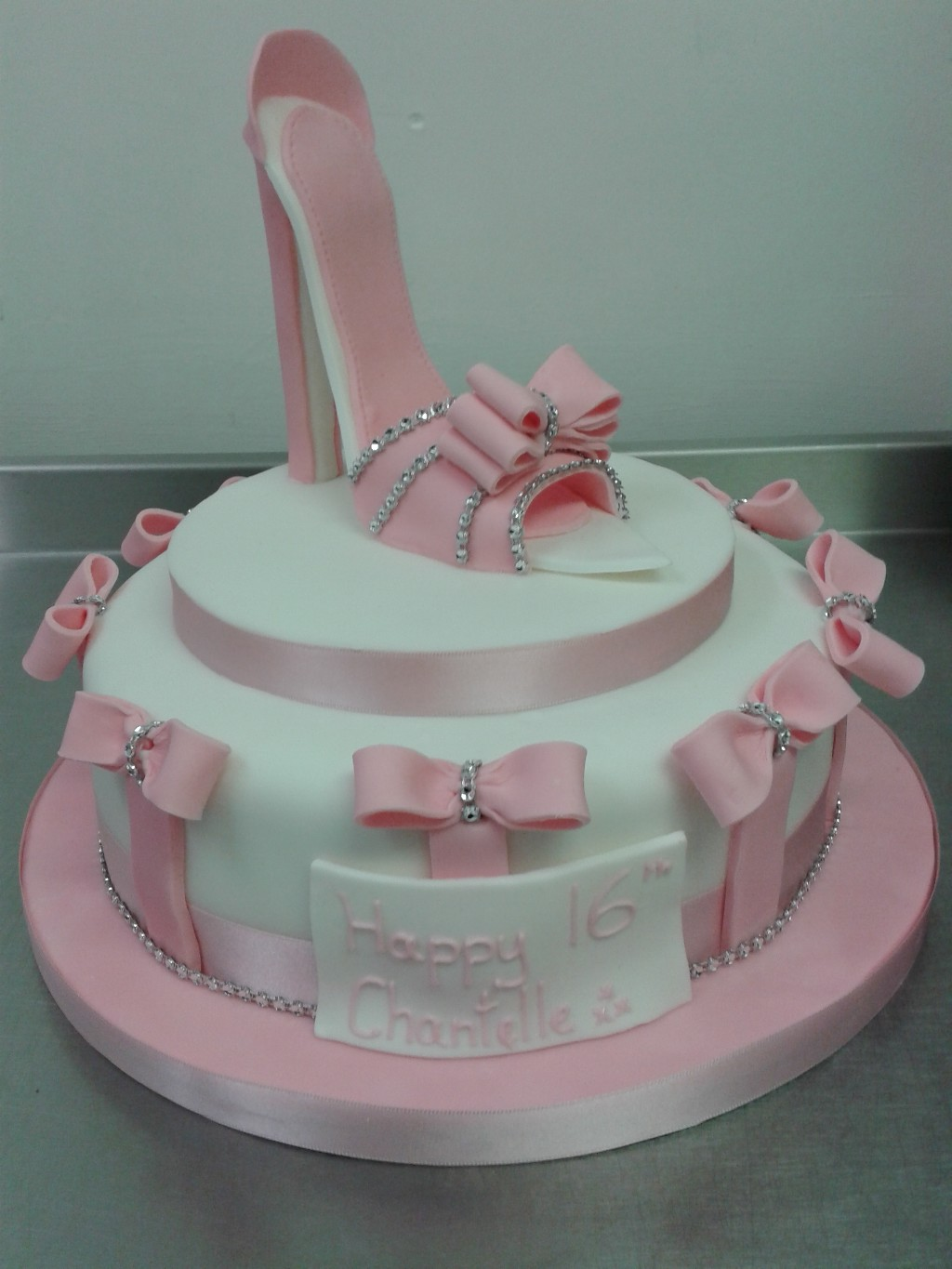 High Heel Girly Pink 16th Birthday Cake Crumbs Cake Shop Sheffield