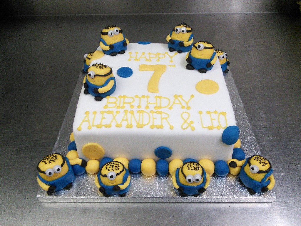 Multi Despicable Me Minion 7th Birthday Cake Crumbs Cake Shop