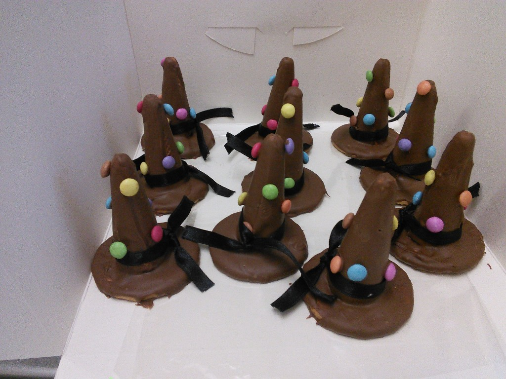 Halloween Witches Chocolate Hats