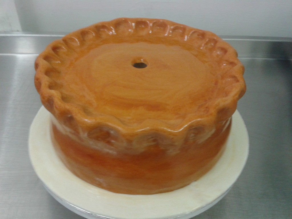 3D Giant Pork Pie Cake