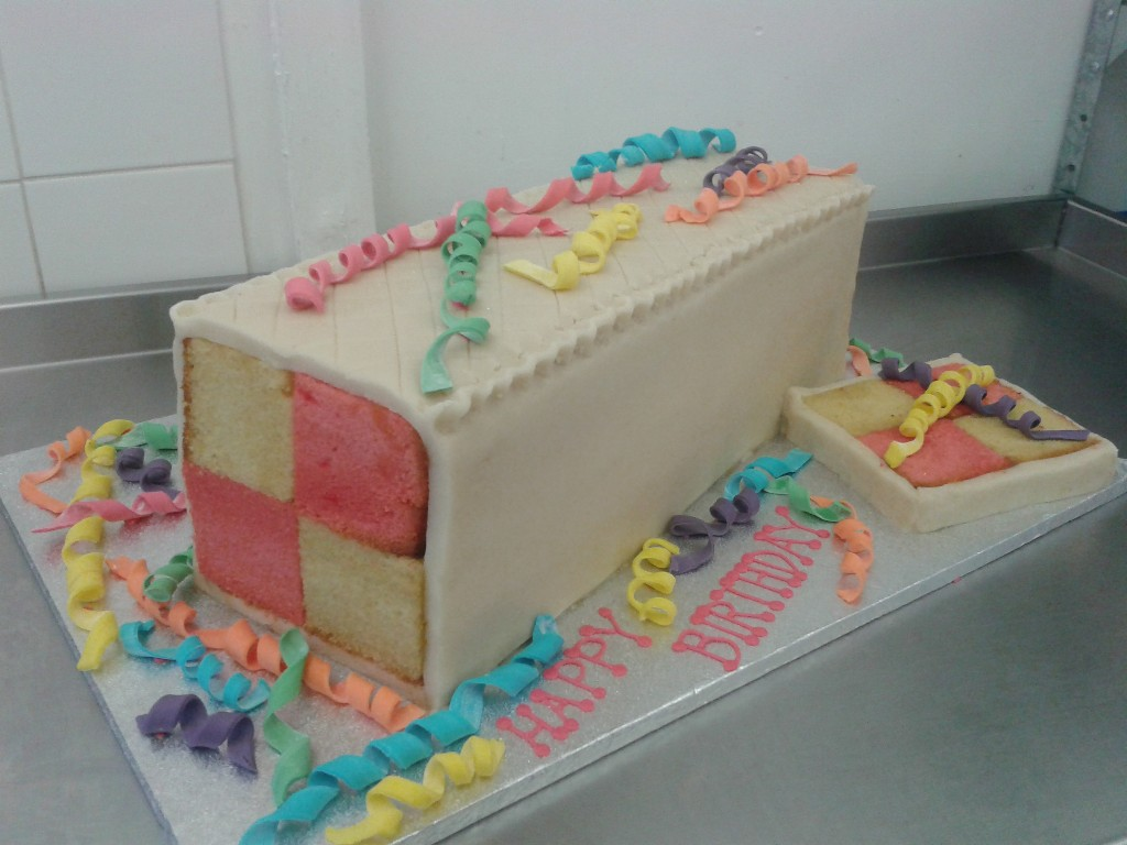 Giant Battenburg Cake