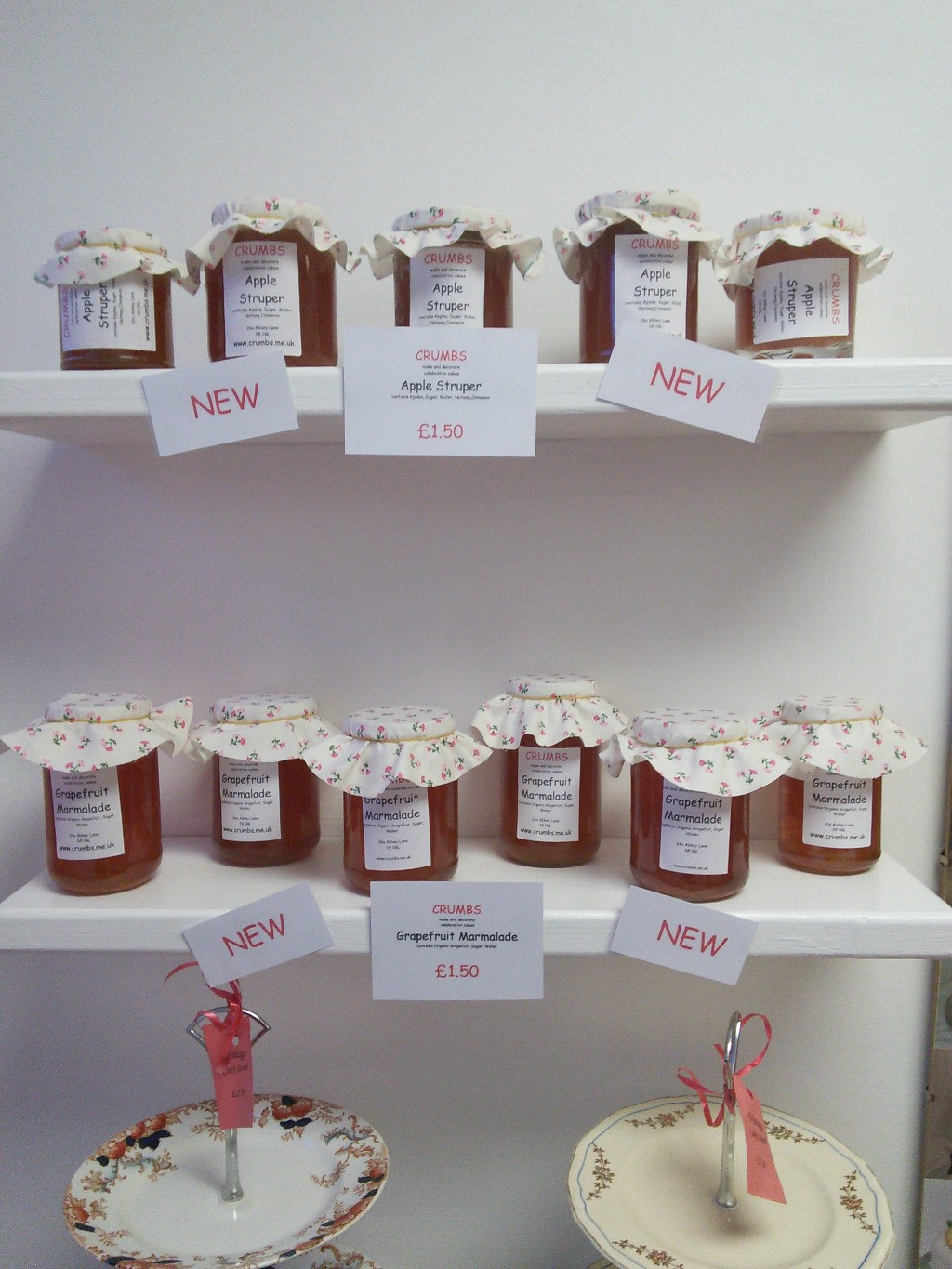 Apple Struper and Grapefuit Marmalade on Sale at Crumbs