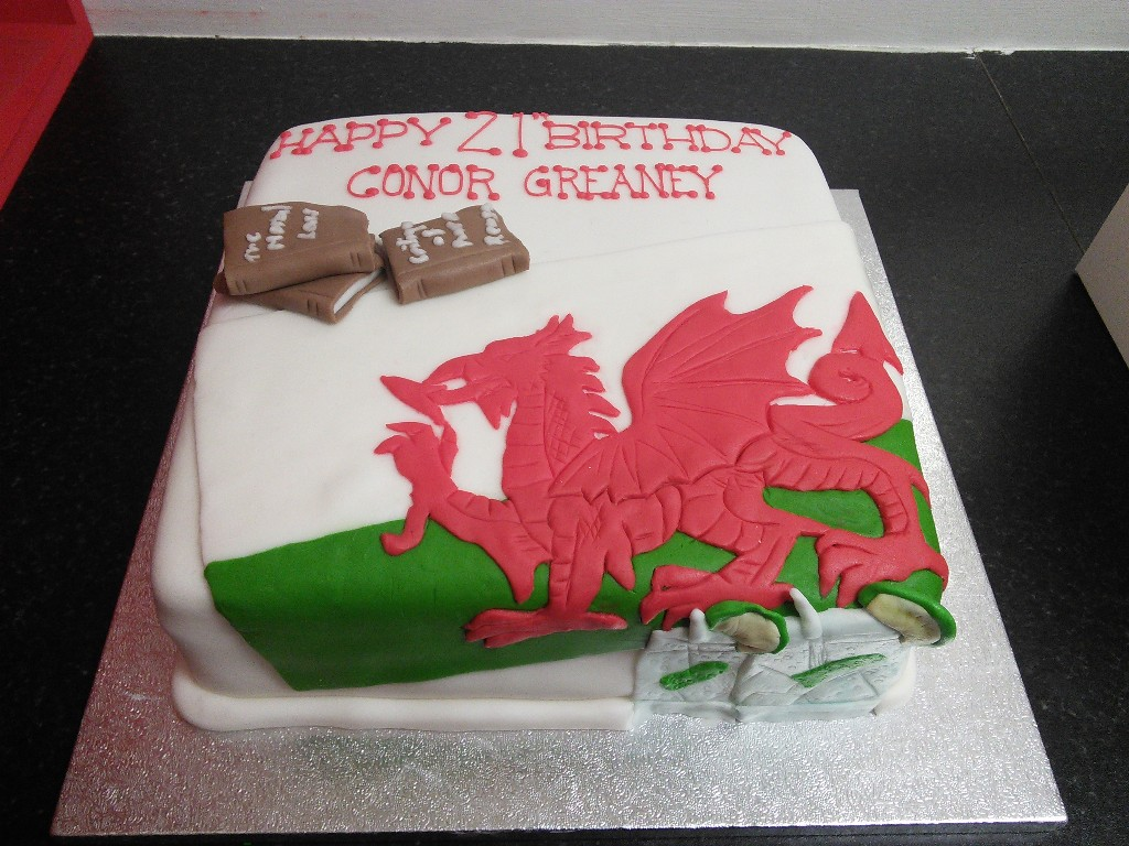 Welsh Dragon 21st Birthday Cake Crumbs Cake Shop Sheffield