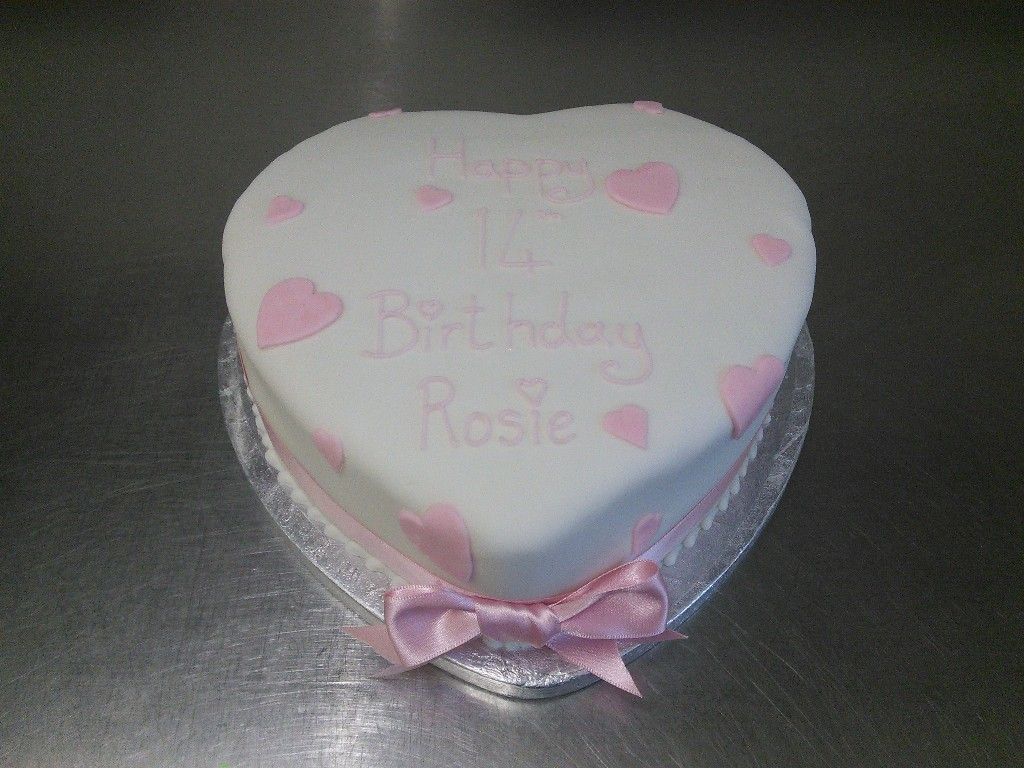 Baby First Birthday Heart Shape Cakes Pictures