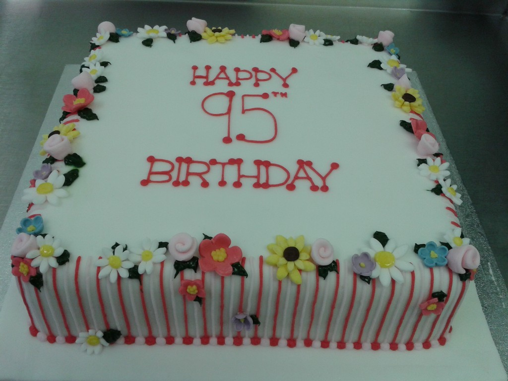 Flowery 95th Birthday Cake