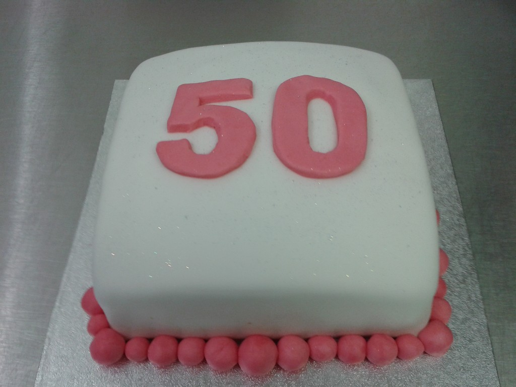 Plain And Simple 50th Birthday Cake
