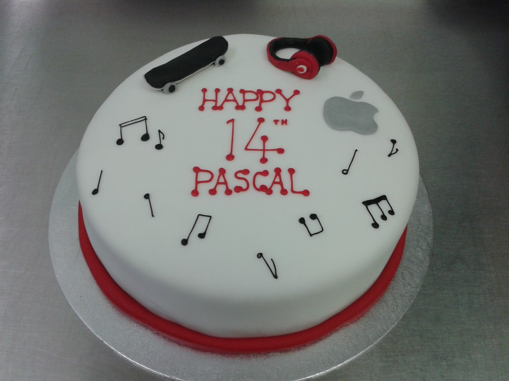 Music And Technology Themed 14th Birthday Cake