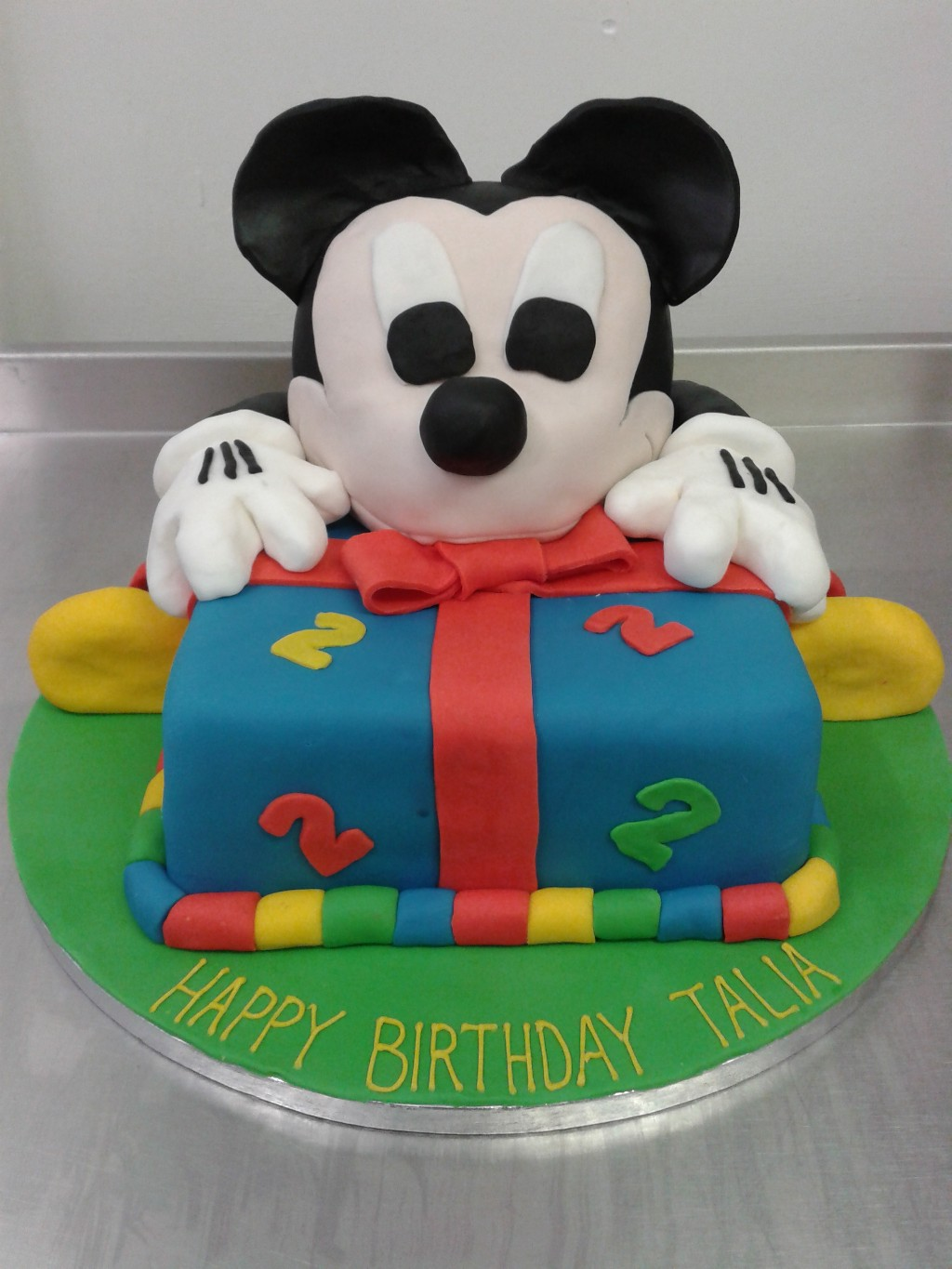 Mickey Mouse 2nd Birthday Cake Crumbs Cake Shop Sheffield