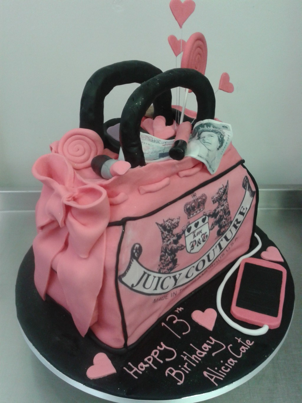 Juicy Couture Girly Handbag 13th Birthday Cake Crumbs Cake Shop