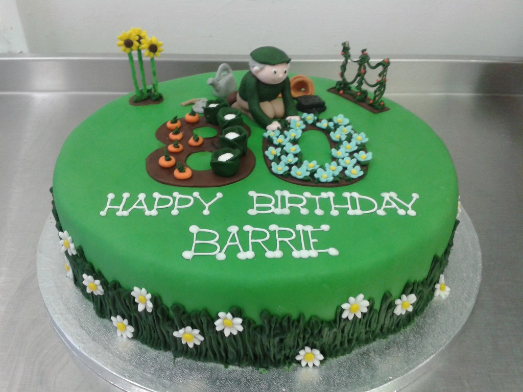 Gardening Themed 80th Birthday Cake Crumbs Cake Shop ...