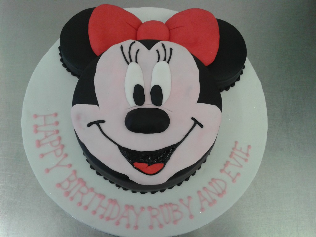 Minnie Mouse Face Birthday Cake