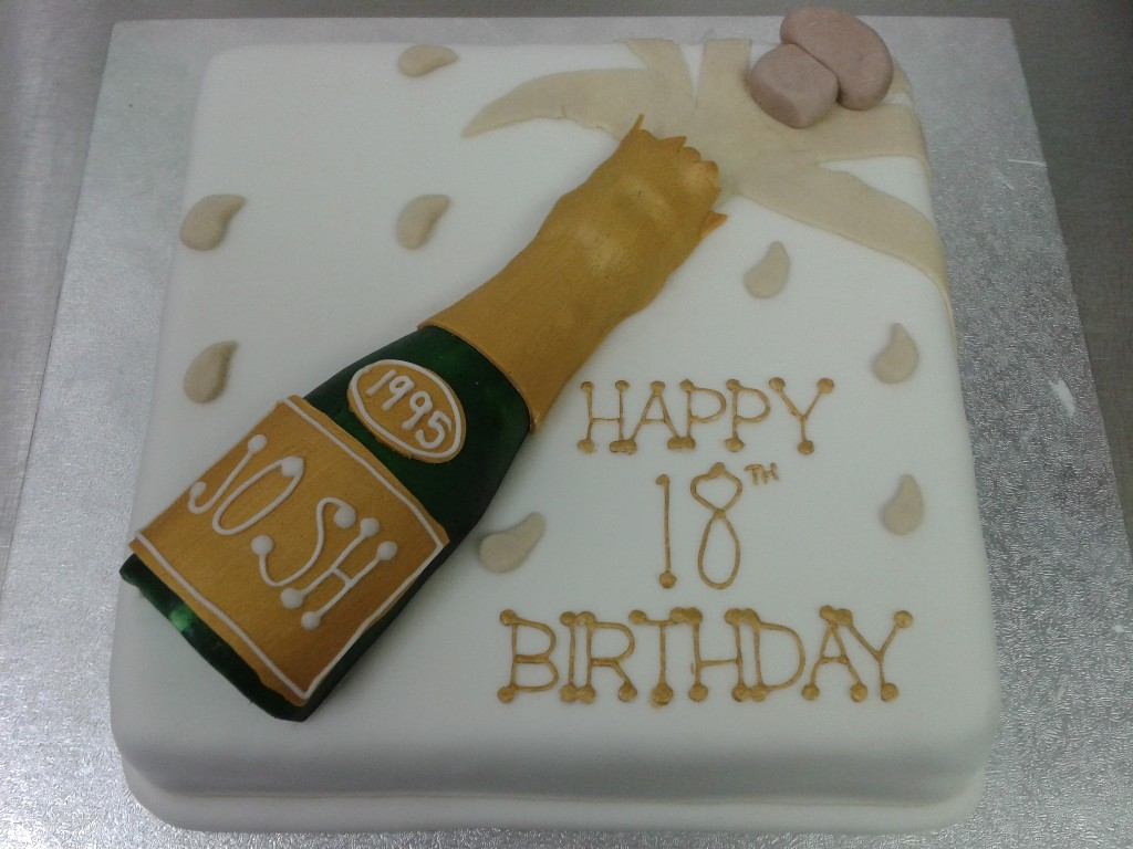 Images Of Birthday Cake And Champagne : Champagne Bottle 18th Birthday Cake Crumbs Cake Shop ...