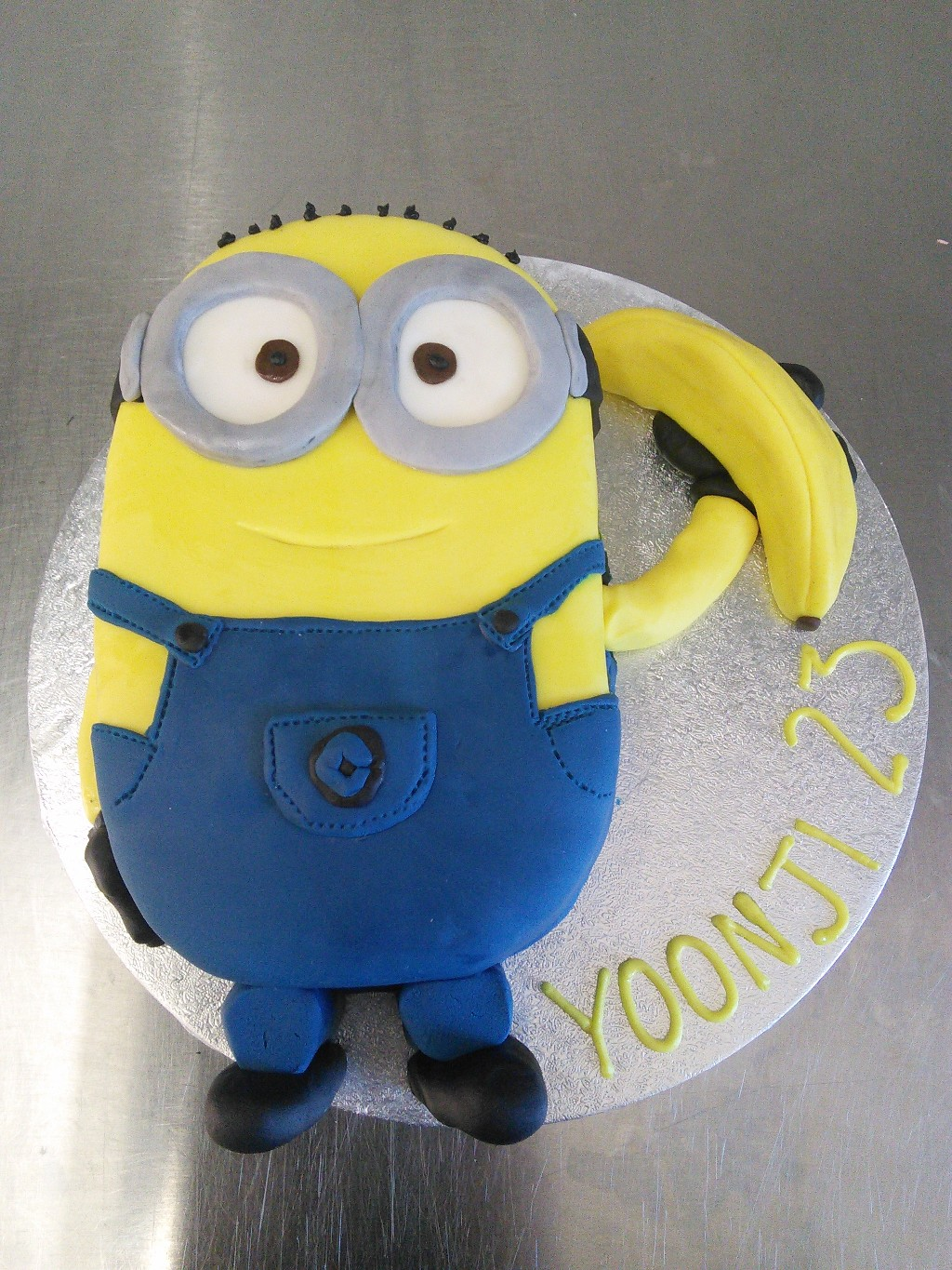 Despicable Me Minion with Banana Birthday Cake