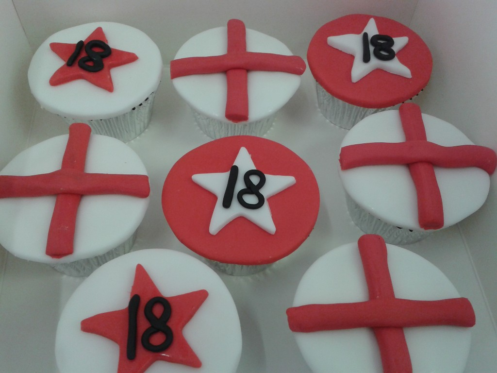 England Football 18th Birthday Cup Cakes