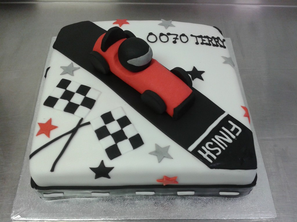 Racetrack and Car 70th Birthday Cake