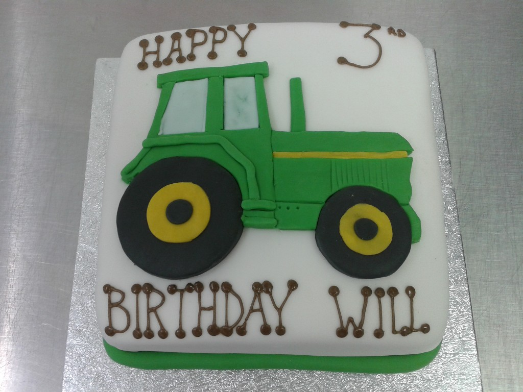 Tractor 3rd Birthday Cake