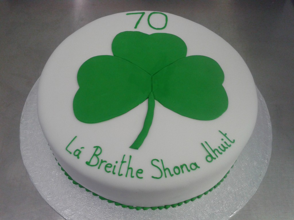 Irish Three Leaf Clover Birthday Cake