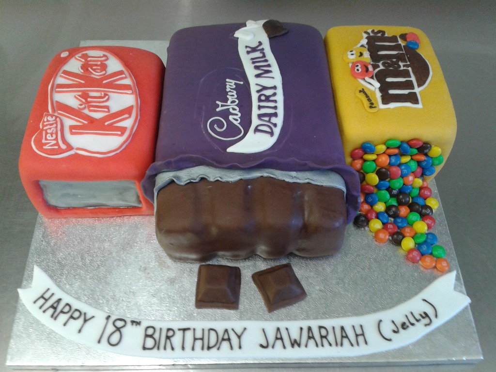 Chocolate And Sweets 18th Birthday Cake Crumbs Cake Shop Sheffield