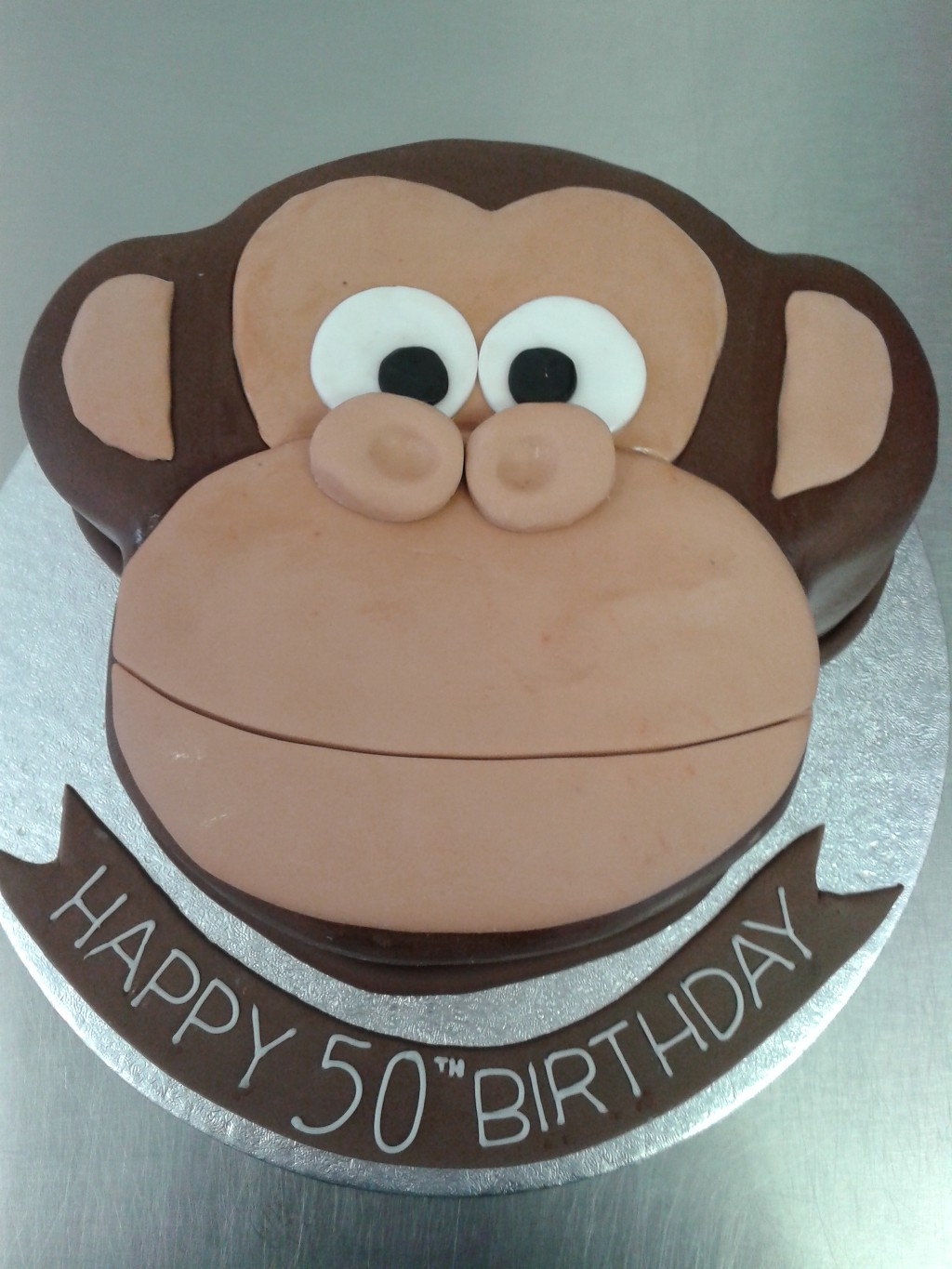 Monkey Face 50th Birthday Cake Crumbs Cake Shop Sheffield