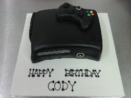 XBox 360 Elite Birthday Cake