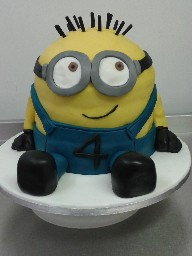 3D Despicable Me Minion 4th Birthday Cake