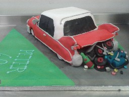 Old Fashioned American Car Birthday Cake