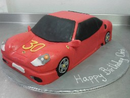 Red Ferrari Sport Car 30th Birthday Cake