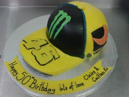 Monster Baseball Cap Birthday Cake