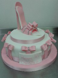 High Heel Girly Pink 16th Birthday Cake