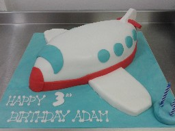 Aeroplane Toy 3rd Birthday Cake