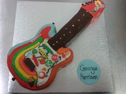 Bootleg Beatles George Harrison Guitar Cake