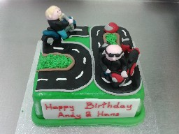 Motorbike Road Trip Birthday Cake