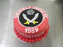 Sheffield United Blades Badge Birthday Cake