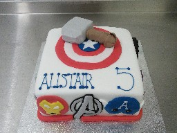 Avengers Themed 5th Birthday Cake