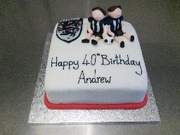 England Football 40th Birthday Cake