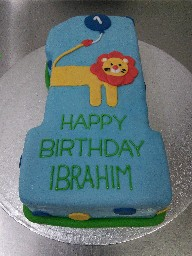 Number 1 Lion Birthday Cake