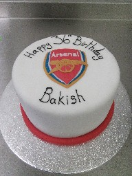 Arsenal Football Badge Cake