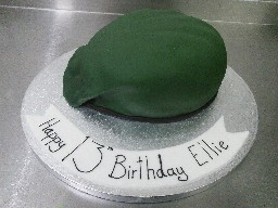 3D Green Army Beret cake