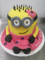 3D Despicable Me Girly Minion Birthday Cake