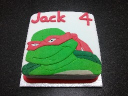 Teenage Mutant Ninja Turtle 4th Birthday Cake