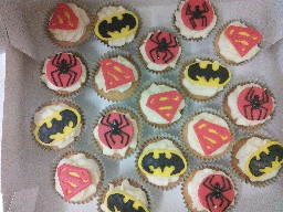 Mixture Of Super Hero Cupcakes