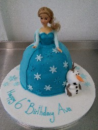3D Frozen Elsa and Olaf 6th Birthday Cake