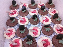 Halloween Tombstones and daggers cupcakes