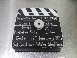 Movie Clapper Board Birthday Cake