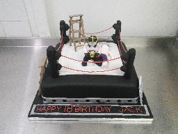 WWE Wrestling Ring 18th Birthday Cake