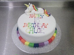Magical Rainbow Unicorn 18th Birthday Cake