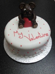 Valentines Day Teddy Bear Cup Cake
