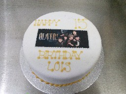 Oliver at the Sheffield Crucible Theatre, 15th Birthday Cake
