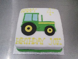 Tractor Themed 4th Birthdsy Cake